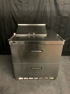 Delfield Ucd4432n 6 dd1 36 Sandwich Prep Table With 2 Drawers Used
