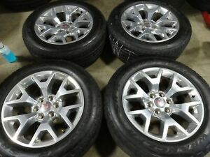 20 Gmc Yukon Factory Oem Polished Wheels Rims Tires Sierra 1500 Tahoe 5698