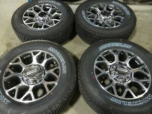 20 2020 Ford F250 Factory Oem Machined Gray Wheels Rims Michelin Tires F350