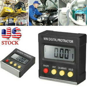 Digital Lcd Protractor Gauge Level Box Angle Finder Inclinometer Magnet Meter Ns