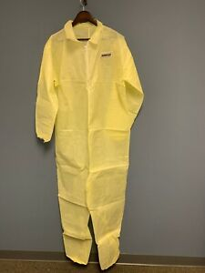 2 pk Ironwear 1605 Yellow Water Resistant Disposable Polypropylene Coverall 4xl