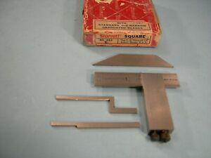 Starrett No 453ez Die Makers Square Set Complete Tool Maker Machinist