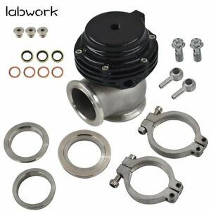 38mm Turbo External Wastegate Mvs Black W V Band Clamp Flanges And Springs
