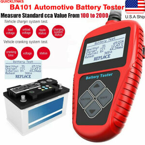 Us 12v Car Battery Load Tester Analyzer Analysis 100 2000cca Quicklynks Ba101