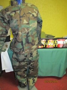 Military Surplus Chemical Suit Bdu Woodland Ppe Jacket And Pants Set Sm Used