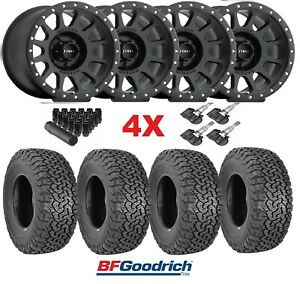 17 Black Wheels Rims Tires Off Road 285 70 17 Bfgoodrich Ko2 Mr305 Mr30578560500