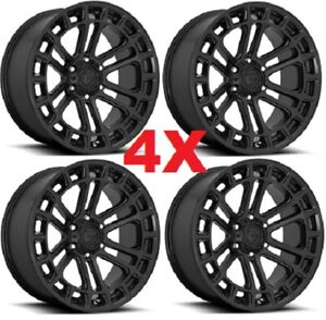 20 Black Wheels Rims Fuel Heater D718 Off Road