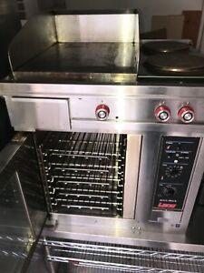 Lang Electric Convection 1 2 size Oven Flat Top Grill 2 Burners