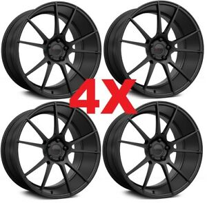 20 Satin Black Wheels Rims Kmc Km709 Niche Vossen Stance Vertini
