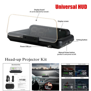 Universal Car Suv Led Gps Speed Water Hud Head Up Projector Kit Digital Display