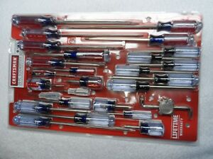 Craftsman Phillips Slotted Torx Screwdriver Set Nos Usa 28 Pcs Part 31797