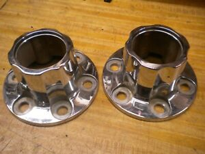 1981 Chevy Luv Isuzu Pup Diesel C223 Wheell Centercap Pair Good Chrome