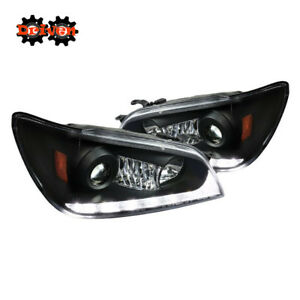 For 01 05 Lexus Is300 Led Drl Switchback Turn Signal Projector Headlights Black