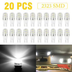 20x 6000k White 192 168 194 2323 T10 Wedge Led Car Lights Bulb Lamp 12v Us