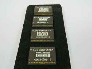 4 Used Genuine Adc80ag 12 Burr Brown 12 bit A d Analog To Digital Converter Ic