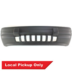 New Front Black Bumper Cover For 1993 1995 Jeep Grand Cherokee Laredo Ch1000207
