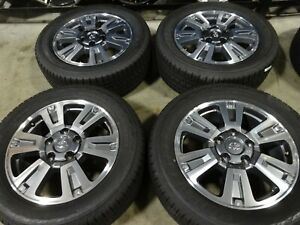 20 Toyota Tundra Factory Oem Gray Machined Wheels Rims Tires Sequoia 75159c