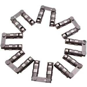 16pcs Hydraulic Roller Lifters With Link Bar For Chevy Sbc Small Block 350 1999