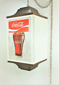 Vtg NOS Coke Coca Cola Today's Special 4 Sided Hanging Menu Board +7 Menu Cards
