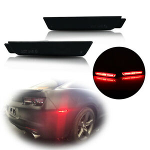 Ss Brilliant Red Smoked Rear Side Marker Led Lights For Chevrolet Camaro 2010 15