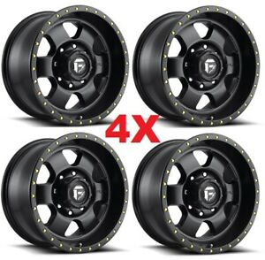 18 Matte Black Wheels Rims Fuel Podium D618 2500 3500 Hd Method