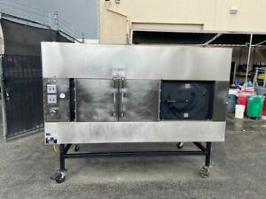 Wood Burning Smoker Bbq Gas Oven Rotating Rack Ole Hickory Ssg Commercial 4068