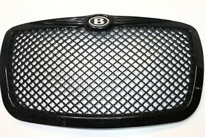 2005 2010 Chrysler 300 Front Mesh Grille Gloss Black Bentley Style P2966