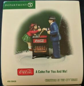 Dept 56 Christams In The City A Coke For You And Me! coca cola 59430