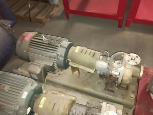 Durco Mark Iii Centrifugal Pump 1k 1 5x1 8 Alloy D4 ss w reliance 15hp Motor