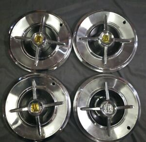 4 Vintage 14 1957 57 Dodge Lancer Knight Hubcaps Wheel Covers Center Caps
