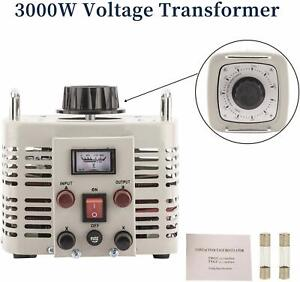 Auto Transformer Ac Variable Voltage Converter Transformer Beige 3000w Us Stock