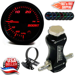 Turbosmart Boost Tee Boost Controller 0101 1002 Black 52mm Psi Boost Gauge Pod