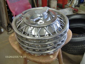 Corvair Chevy Ii Spinner Wire Wheel Covers Hub Cap Set Of 4