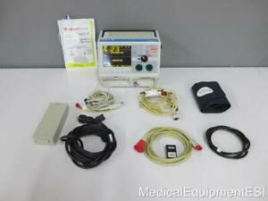 Zoll M Series Biphasic 3 Lead Ecg Spo2 Nibp Aed Als Pacing Rough Patient Monitor