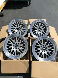 16x8 20 Xxr 531 4x100 114 3 Silver Rims Wheels Fits E30 Civic Miata Used Set