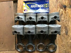Ford 360 390 Fe Speed Pro Hypereutectic Flat Top Pistons Cast Rings 040 W Rods
