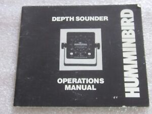 Nice Hummingbird Depth Sounder Operations Manual