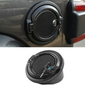 For Jeep Wrangler 18 Gas Fuel Tank Cap Cover With Decorative Stickers And Lock