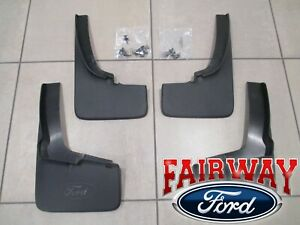 19 Thru 21 Ranger Oem Genuine Ford Black Splash Guards Mud Flaps Set Of 4