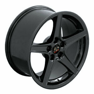 Black 18 Wheel Compatible With Mustang Saleen Style Rim 18x10