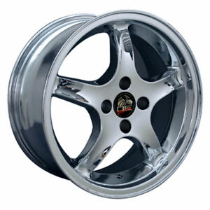 Chrome 17 Wheel Compatible With Mustang Cobra R Deep Dish Style Rim 17x8