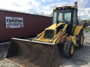 2005 New Holland Lb75 b 4x4 Tractor Loader Backhoe W Cab Cheap