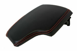 Console Lid Armrest Cover Leather For Bmw F30 2014 2018 Black Red Stitch
