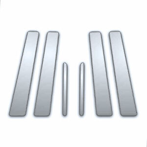 6pc Chrome Pillar Side Covers For 98 02 Toyota Corolla