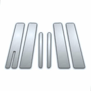 6pc Chrome Pillar Side Covers For 2010 2019 Lincoln Mkt