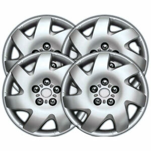 16 Silver Clip on Hubcaps For 2002 2006 Toyota Camry