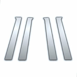 4pc Chrome Pillar Side Covers For 2009 2011 Chevy Aveo