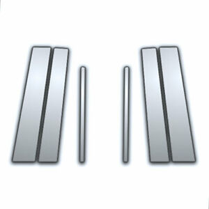 6 Pc Chrome Pillar Side Covers For 05 10 Toyota Yaris