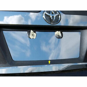 Luxury Fx License Plate Bezel For 2012 2014 Toyota Camry chrome