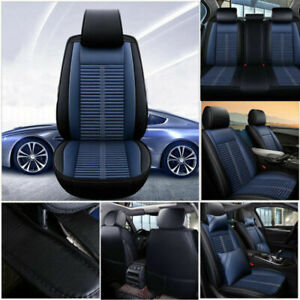 Luxury 5 Seats Car Seat Covers Auto Cushions Pu Leather Universal Accessories Us